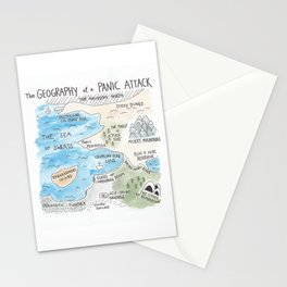 The Geography of a Panic Attack Stationery Cards