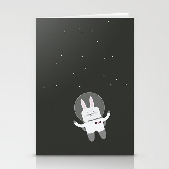 Astro Bunnies Stationery Cards