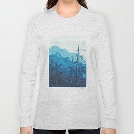Tonal Mountain Study 1 Blue Long Sleeve T-shirt