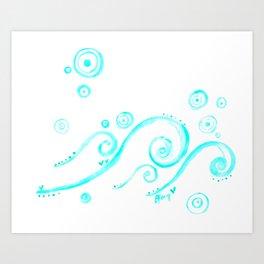 Element: Ocean Art Print