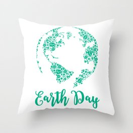 Earth Day World Leaves - Earth Day graphic Gift Throw Pillow
