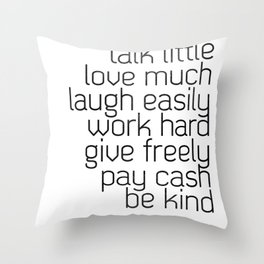 Think and talk Throw Pillow