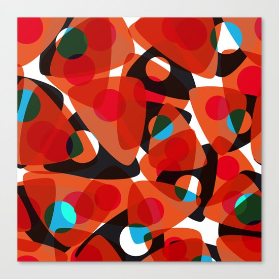 orange 70s Canvas Print