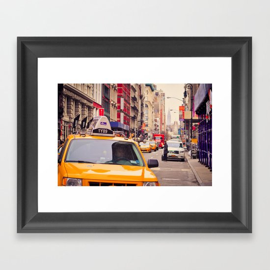 NYC Yellow Cab Framed Art Print