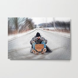 Art for Hope/ Will Work for Happiness  Metal Print