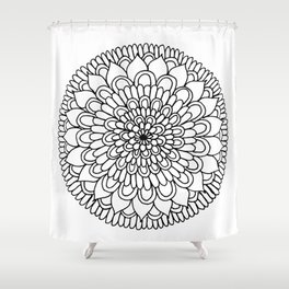 Equanimity / Petals Shower Curtain