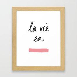 La Vie en Rose x Telma W. Framed Art Print