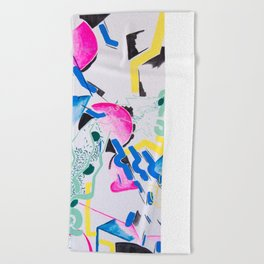 Moving Shapes Beach Towel