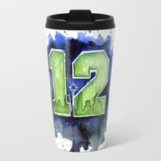 12th Man Seahawks Seattle Go Hawks Art Travel Mug