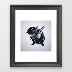 Angry mouse Framed Art Print