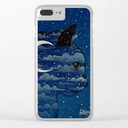 LUNA CAT by Raphaël Vavasseur Clear iPhone Case