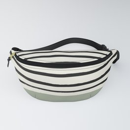 Sage Green x Stripes Fanny Pack