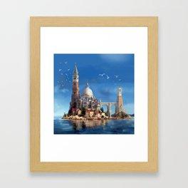 Hy-Brasil Island Framed Art Print