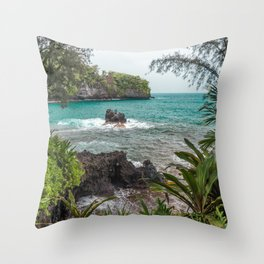 Hawaiian Turquoise Cove Throw Pillow