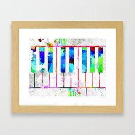 Piano Keyboard Framed Art Print