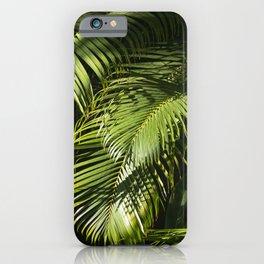 Lush Fern Jungle Leaves iPhone Case