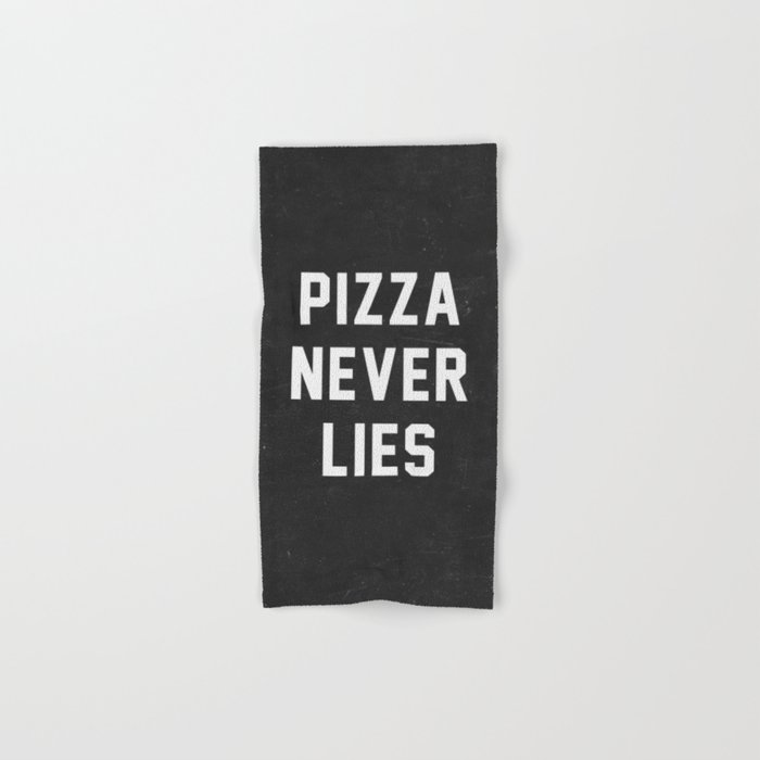 Pizza Never Lies Hand & Bath Towel