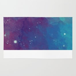 Watercolor night sky Rug