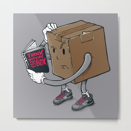 think outside the box? Metal Print