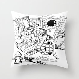 Collage of Thoughts Throw Pillow
