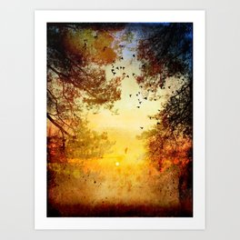 Chasing The Light  Art Print