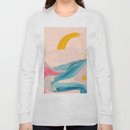 Abstract Vintage Line Sunset Long Sleeve T-shirt