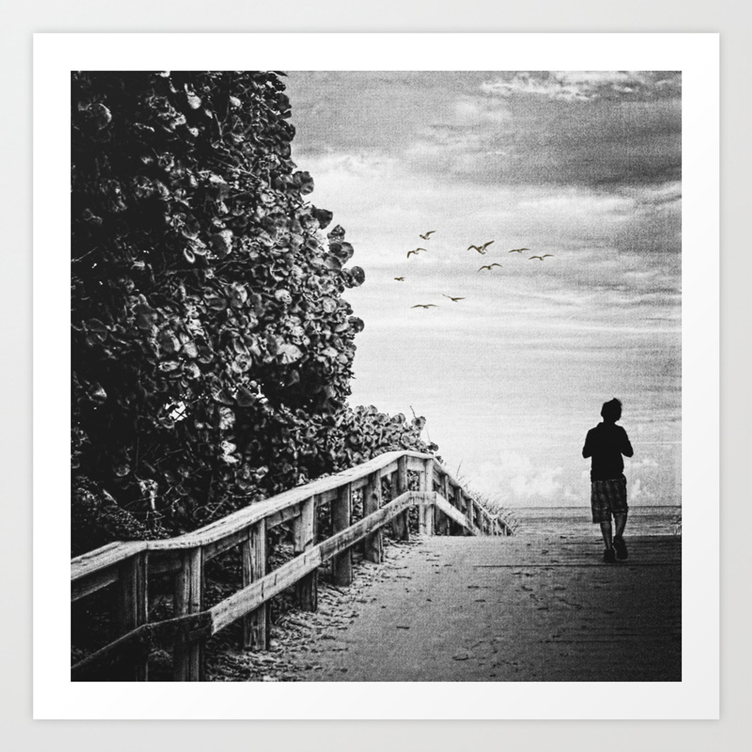 The lonely boy art print
