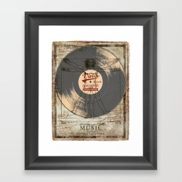 VINCI RECORD Framed Art Print
