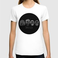 bastille T-shirts featuring Bastille Skulls by wellsi