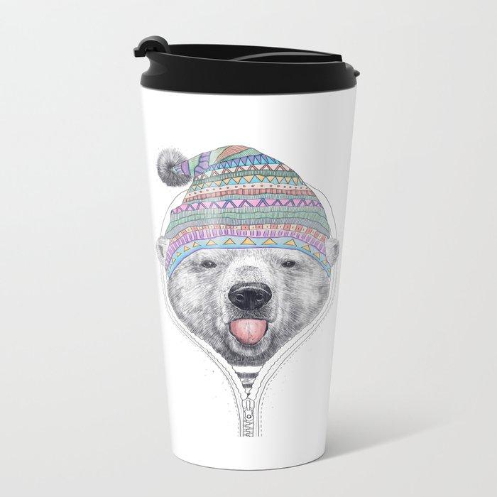 The Bear in a hood Travel Mug