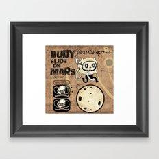 Budy slide on Mars Framed Art Print