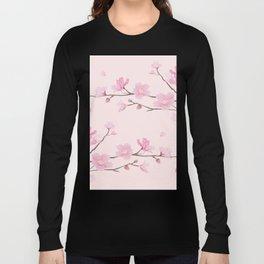 Cherry Blossom - Pink Long Sleeve T-shirt
