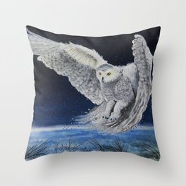 Winter Hunt Throw Pillow