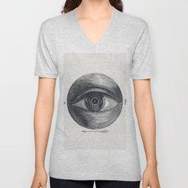 Menselijk oog met een afwijking (1836-1912) print in high resolution by Isaac Weissenbruch Unisex V-Neck