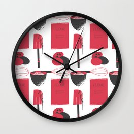 Inky Kitchen Wall Clock
