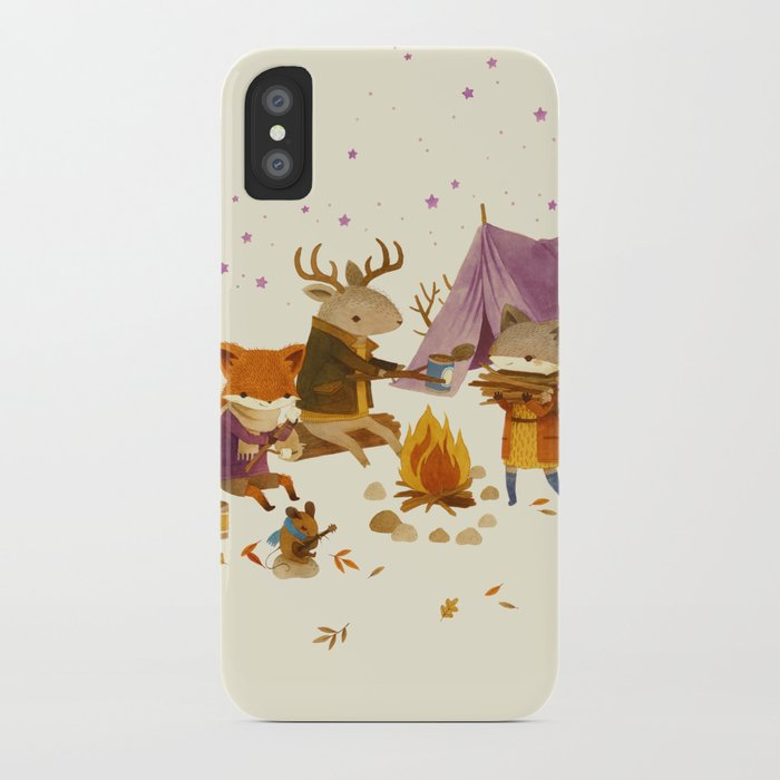 Critters: Fall Camping iPhone Case