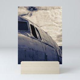 scrapyard plane Mini Art Print