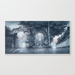 """A Night Street"" watercolor painting Canvas Print"