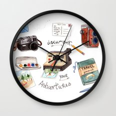 Document Your Adventures Wall Clock