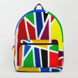Geometric Shapes - bold and bright Backpack