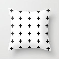+++ (black) Throw Pillow