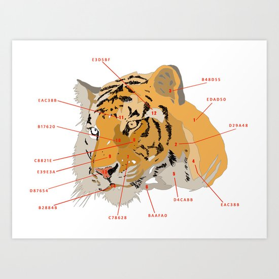 Tiger Colors Art Print