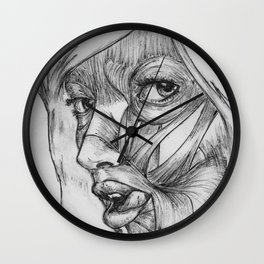 Skin Deep - Black & White Wall Clock