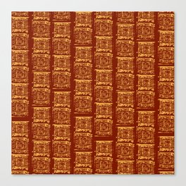 Lex Bricks Red Canvas Print