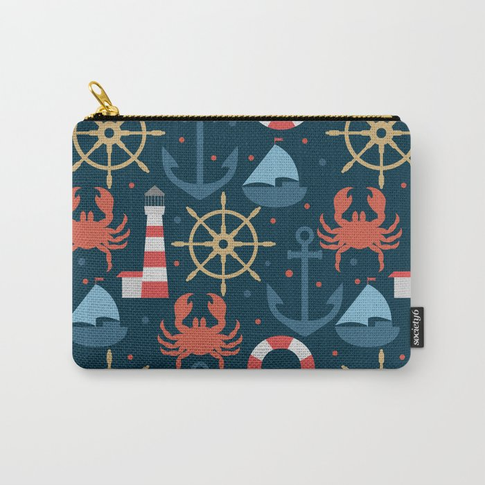 Sea blue pattern Carry-All Pouch