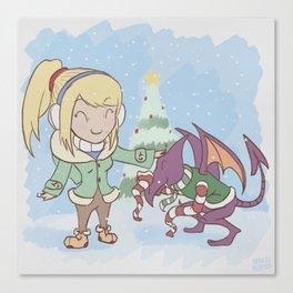 Samus in Christmas Canvas Print