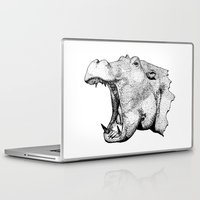 hippo Laptop & iPad Skins featuring Hippo by MattLeckie