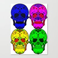 sugar skulls Canvas Prints featuring Sugar Skulls by Spooky Dooky