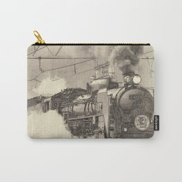 6120 Train Lithograph Carry-All Pouch