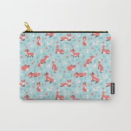 Fox and Bunny Pattern Carry-All Pouch